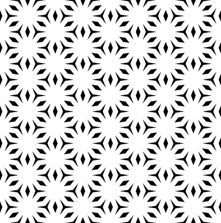 angular: A Vector monochrome seamless pattern, repeating geometric tiles. Simple abstract background with polygons & rhombuses.