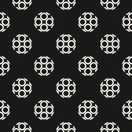 perforation texture: Monochrome ornamental seamless pattern. Vector geometric texture, rounded lattice, outline circular shapes. Abstract repeat mosaic background. Dark design element for prints, decor, textile, covers