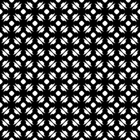rug texture: Vector monochrome seamless pattern, black & white repeat ornamental texture, endless geometric wallpaper. Abstract dark background with circles, smooth lines. Design for prints, decoration, textile