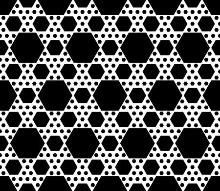 Vector Monochrome Seamless Pattern Repeat Geometric Texture