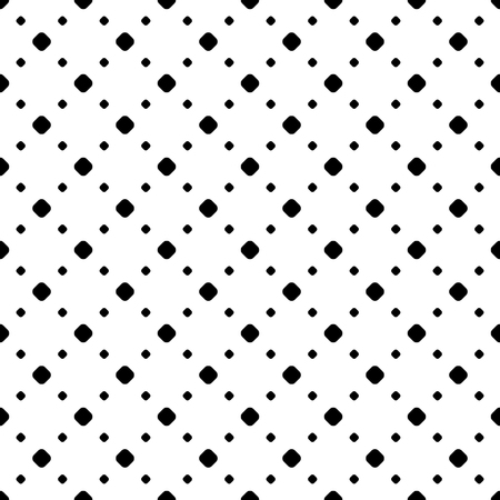 Vector monochrome seamless pattern. Black & white repeat minimalist background with dots, diagonal array. Simple abstract geometric texture. Design for tileable print, decoration, embossing, textile  イラスト・ベクター素材