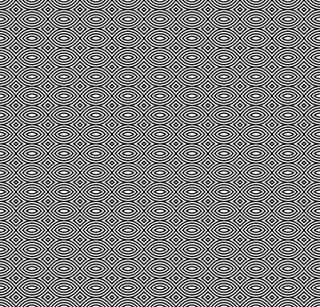 Vector monochrome seamless pattern, black & white repeat mosaic texture. Simple abstract background, geometric figures. Design element for tileable prints, stamping, decoration, book cover, digital