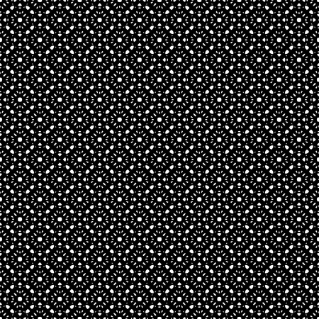 oriental vector: Vector monochrome seamless pattern, repeat ornamental texture, oriental style. Abstract black & white mosaic background. Endless geometric wallpaper. Design for prints, fabric, textile, napkin, decor