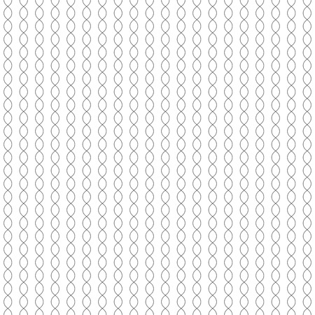 Vector monochrome seamless pattern, thin curved lines, subtle vertical chains. Simple minimalist endless texture. Black & white repeat background. Design element for prints, decoration, digital, web