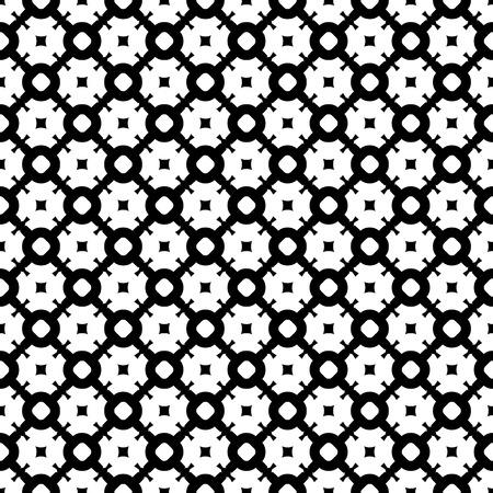 figura: Padrão sem emenda do vetor, textura preta e branca abstrata simples Ilustração