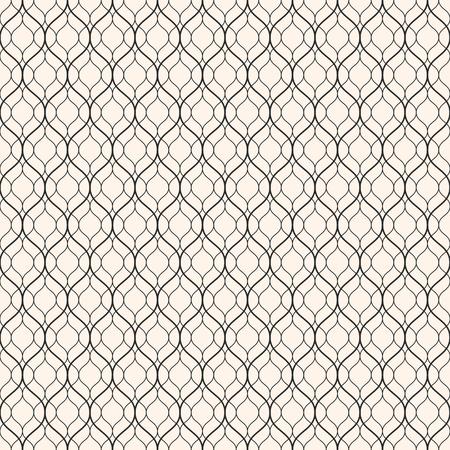 Patrón Transparente De Vector, Líneas Onduladas Delgadas. Textura ...