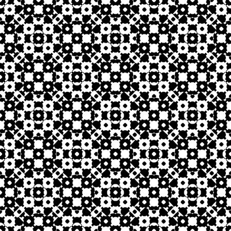 벡터 흑백 원활한 질감, 흑백 반올림 형상 간단한 패턴으로 반올림. 타일을 반복하십시오. 인쇄, 엠보싱, 장식, 섬유, 직물, 천을위한 모노 컬러 디자인  일러스트