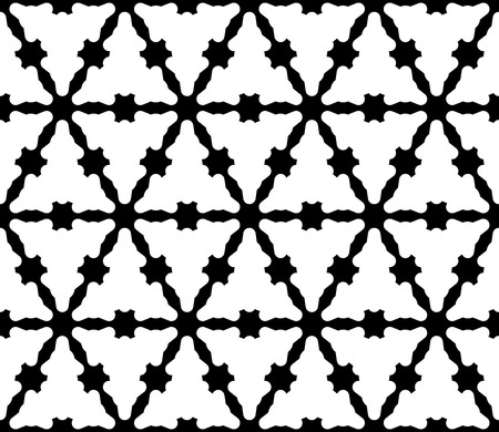 Vector seamless texture, abstract geometric monochrome pattern with smooth triangular grid. Simple black & white background, repeat tiles. Stylish modern design for decor, prints, textile, furniture