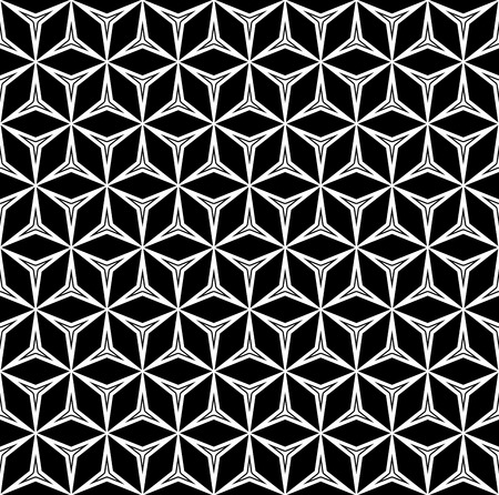 stamping: Vector monochrome seamless pattern, repeat geometric texture, black