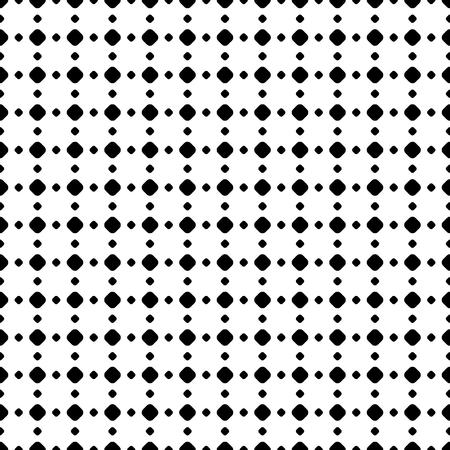 Polka dot seamless pattern, vector black