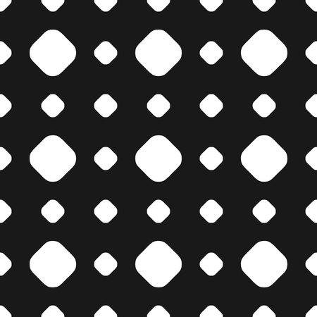 furniture: Polka dot seamless pattern, vector subtle texture. Abstract monochrome background with big and small white circles on black backdrop.