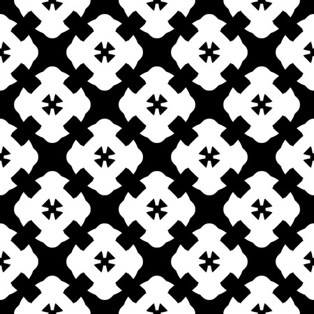 grid: Vector monochrome seamless pattern, simple black Illustration