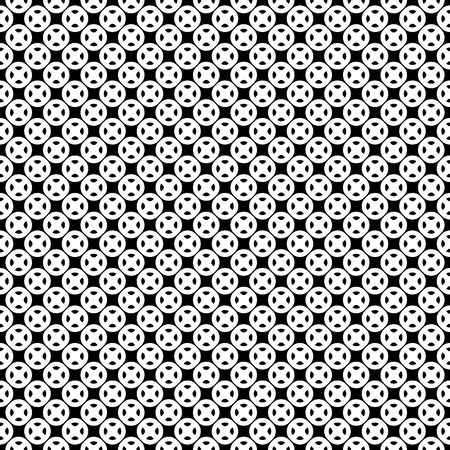 rounded circular: Monochrome seamless pattern, texture with black