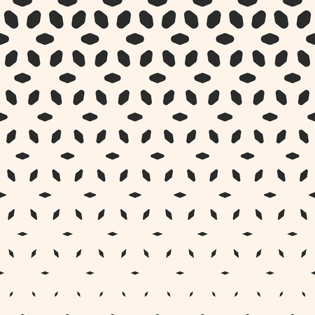 perforated sheet: Halftone pattern. Monochrome geometric texture, visual transition effect, vertical falling rounded shapes, petals. Modern abstract background. Design pattern, decor pattern, digital pattern, covers pattern.
