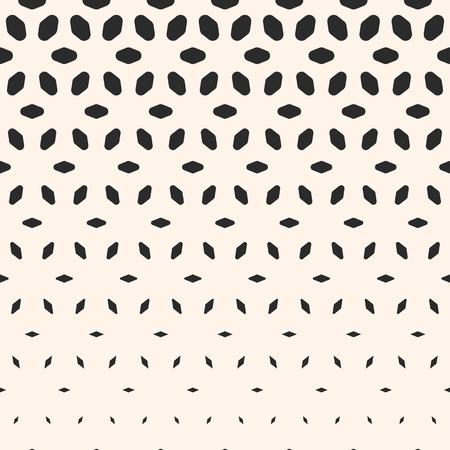 Modelo de semitono. Monocromo textura geométrica, efecto de transición visual, vertical caída de formas redondeadas, pétalos. Fondo abstracto moderno. Patrón de diseño, patrón de decoración, patrón digital, patrón de portadas.