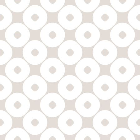 Vector seamless pattern with circles. Abstract geometric background in pastel colors, beige & white. Simple texture, repeat tiles. Stylish monochrome design for prints, home decor, textile, covers. Seamless Pattern with Dots. Stripe Pattern. Polka Dot Bac