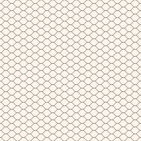 Vector seamless pattern, thin wavy lines. Texture of mesh, fishnet, lace, weaving, subtle lattice. Simple monochrome geometric background. Design for prints, decor, fabric, textile, covers, digital