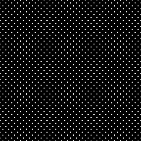 perforation texture: Vector monochrome seamless pattern, polka dot texture, small circles & spots. Simple dark geometric background, abstract black & white wallpaper, repeat tiles. Design for print, textile, decoration Illustration