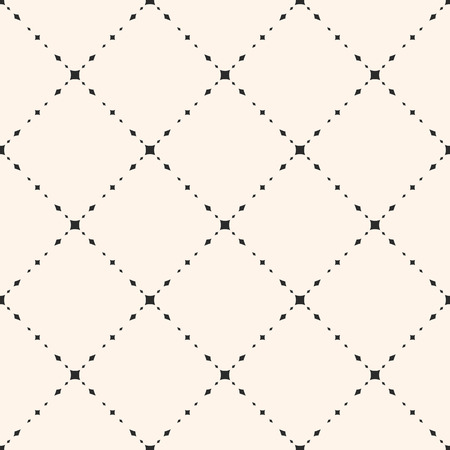 Universal minimalist vector seamless pattern. Subtle geometric texture with small diamond shapes, rhombuses, delicate diagonal grid. Modern abstract minimal background, repeat tiles. Simple design