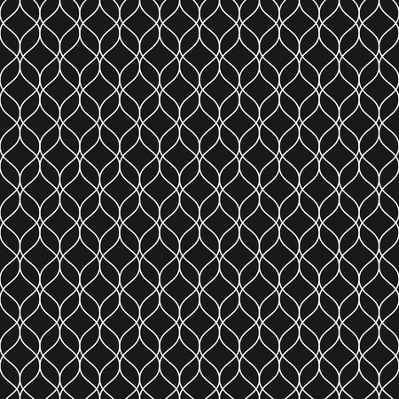 curvature: Vector seamless pattern, thin vertical wavy lines. Dark texture of mesh, fishnet, lace, weaving, smooth grid. Subtle monochrome geometric background. Design for prints, fabric, cloth, textile, decor