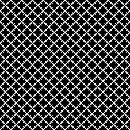 quivering: Vector seamless pattern. Abstract black & white texture with curved geometric shapes, barbed figures. Repeat tiles. Endless dark ornamental background, gothic style. Design for decor, prints, textile