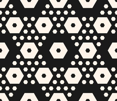 Simple geometric seamless pattern with big and small hexagons. Stock Illustratie