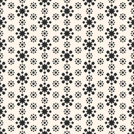 grid pattern: Abstract floral geometric texture monochrome seamless pattern.