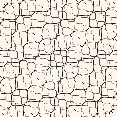 Patrón Transparente De Vector, Líneas Onduladas Finas. Textura De ...