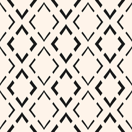 Vector geometric seamless pattern. Modern abstract texture with linear rhombuses, thin lines, repeat tiles. Simple monochrome background. Stylish design for home decor, fabric, textile, pillows, cloth
