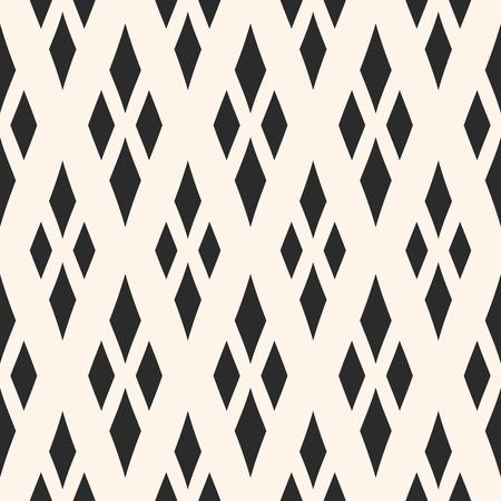 Vector trama geometrica con rombi. Diamanti senza cuciture. Priorità bassa ornamentale monocromatica astratta, motivo tradizionale, reticolo del argyle. Design per arredamento, tessuti, mobili, tessuti, cuscini Vettoriali