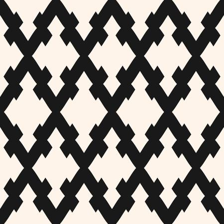 Vector seamless con rombi, reticolo diagonale, mesh. Semplice trama geometrica astratta monocromatica. Sfondo ornamentale tradizionale, ripetere le piastrelle. Design per arredamento, tessuto, tessuto, stampe