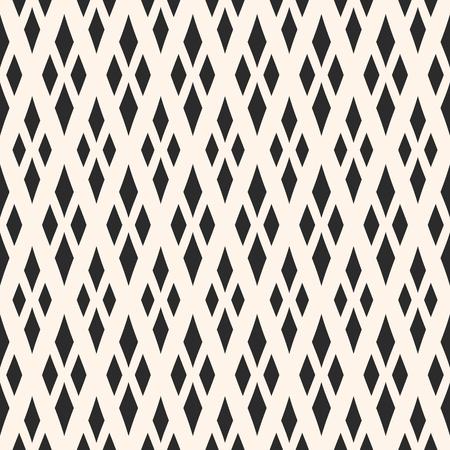 Vector trama geometrica con rombi. Ornamento Argyle, ripeti tessere. Diamanti senza cuciture. Priorità bassa ornamentale monocromatica astratta, motivo tradizionale. Design classico per arredamento, tessile, avvolgere
