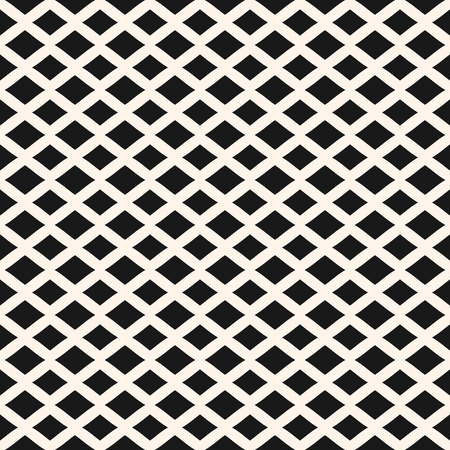 Rhombuses seamless pattern. Vector geometric texture with horizontal diamond shapes, lozenges. Simple abstract monochrome background. Stylish modern design for home decor, fabric, textile, furniture Illustration