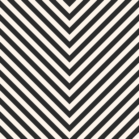 Zigzag Stripes Seamless Pattern. Vector Chevron Texture. Black ...