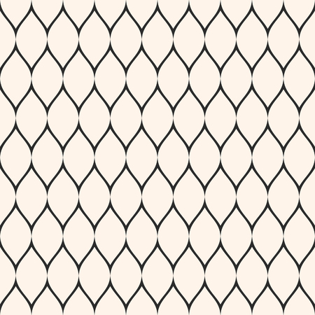 Net pattern. Vector seamless texture with thin wavy lines, mesh, fabric, fishnet, web, lace, grid. Subtle monochrome background, simple repeat texture. Design for prints, decoration, textile, cloth Illustration