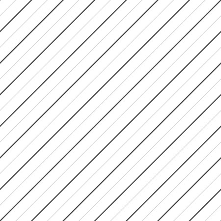 Vector stripes seamless pattern. Thin diagonal lines texture, 45 degrees inclination. Subtle abstract geometric background. White, black and gray colors. Simple paper template, striped linear design