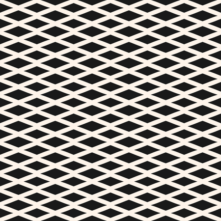 Diamond seamless geometric pattern. Simple stylish vector texture with rhombuses, intersecting lines. Lozenges abstract monochrome background. Square design element for decor, fabric, textile, prints