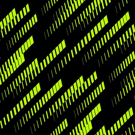 Streszczenie geometryczny wzór z ukośnymi liniami, ścieżkami, paskami rastra. Styl sportów ekstremalnych, tekstura sztuki miejskiej. Modne tło w jasnych neonowych kolorach, zielonym i czarnym. - Grafika wektorowa