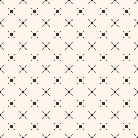 Vector minimalist background. Simple modern geometric seamless pattern with small thin lines, squares, diagonal grid, repeat tiles. Subtle abstract texture. Design for decor, textile, fabric, cloth