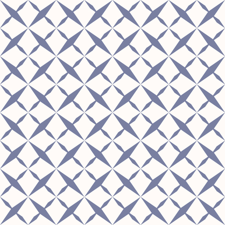 Ornamental grid seamless pattern. Abstract geometric texture with crossing diagonal lines, rhombus shapes. Simple repeat background in trendy pastel colors, blue serenity and white. - Stock vector