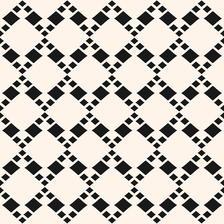 Vector geometric seamless pattern with different rhombuses in diagonal grid. Abstract rhomb texture. Simple monochrome lozenges background, repeat tiles. Design element for fabric, prints, textile