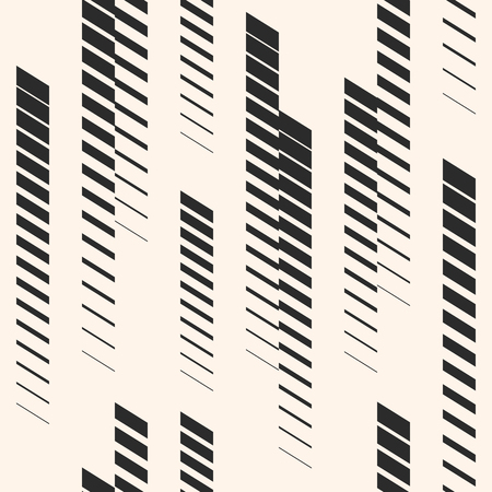Abstract geometric seamless pattern with vertical fading lines, tracks, halftone stripes. Extreme sport style illustration, urban art. Trendy monochrome graphic texture. Creative design. Stock vector