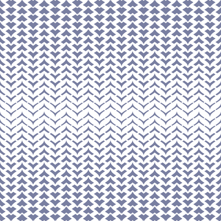 Vector halftone mesh seamless pattern with curved zigzag lines, smooth grid, weave, net, lattice, fabric. Abstract geometric texture in trendy colors, blue and white. Trendy repeat background design Ilustração