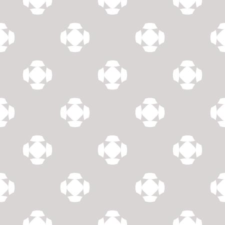 シンプルな幾何学的な数字、十字架、花の形を持つベクトルミニマリストシームレスパターン。ニュートラルなパステルカラー、ライトグレー、ホワイトの抽象的なテクスチャ。現代の最小限の背景。繰り返し設計 写真素材 - 91884378