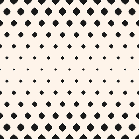 Vector seamless pattern. Monochrome background with halftone effect, vertical gradient transition. Abstract geometric texture with small rounded shapes, repeat tiles. Contemporary graphic design. Çizim