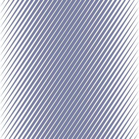 Vector geometric halftone diagonal stripes seamless pattern. Blue slanted lines  Gradient transition effect texture.