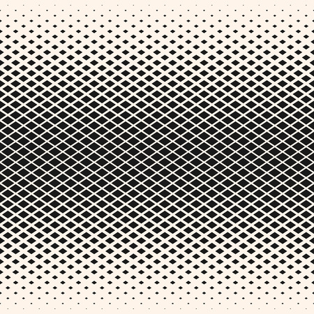 Halftone vector geometric seamless pattern with diamond shapes, crystals, rhombuses. Abstract background with gradient transition effect. Stylish design for decor, covers, prints.