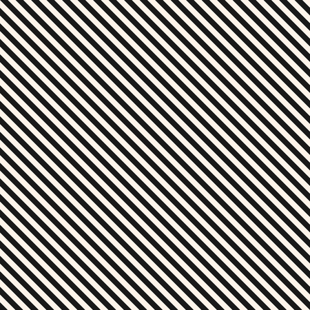 A Vector stripes seamless pattern. Thin diagonal lines texture, 45 degrees inclination. Modern abstract geometric background. Black and white. Simple striped template. Universal repeat design element