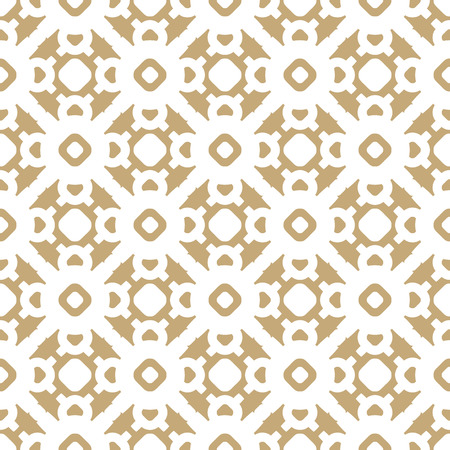 Vector gold and white background. Abstract geometric floral seamless pattern. Elegant abstract golden ornament in oriental style. Asian traditional motif. Luxury ornamental texture. Repeat design
