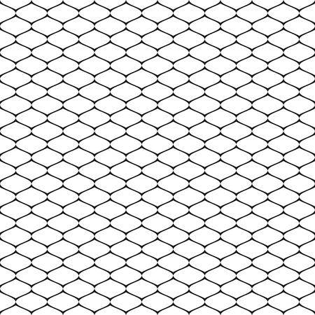 Patrón transparente de vector, textura geométrica simple en blanco y negro, ilustración monocroma de malla, celosía, rejilla, mallas, tejido, encaje, red. Resumen de antecedentes de repetición. Elemento de diseño para impresiones.